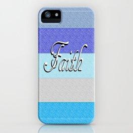 FAITH on Blue iPhone Case
