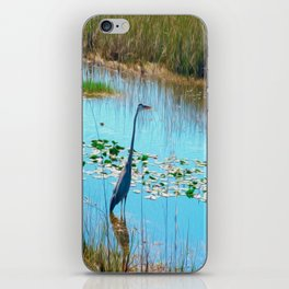 Blue Heron in the Glades iPhone Skin