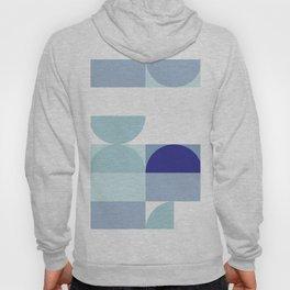 Minimal Bauhaus Semi Circle Geometric Pattern 3 - Blue #buyart #society6 #minimalart Hoody