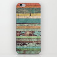 wooden iPhone & iPod Skins featuring Wooden Vintage  by Patterns and Textures