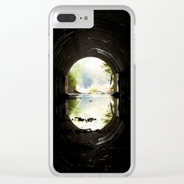 Green at the End of the Tunnel Clear iPhone Case