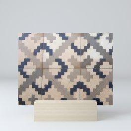 Vintage tile pattern Mini Art Print