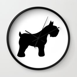Schnauzer - Simple Dog Silhouette Wall Clock