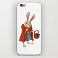 red riding hood iPhone & iPod Skins featuring Little Red Riding Hood by Alyssa Tallent
