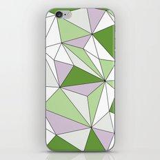 Geo - green, gray and white. iPhone & iPod Skin