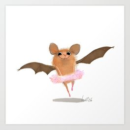 ballet bat Art Print