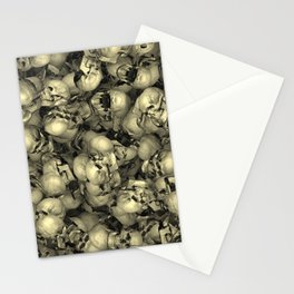 Heap of skulls Stationery Cards