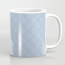 Powder Blue Stitched and Quilted Pattern Coffee Mug