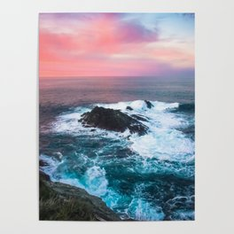 Sunset on the Bay of Biscay Poster