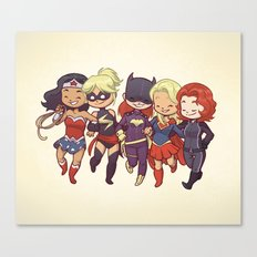 Super BFFs Canvas Print