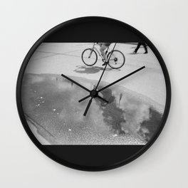 Cloud Bicycle Wall Clock