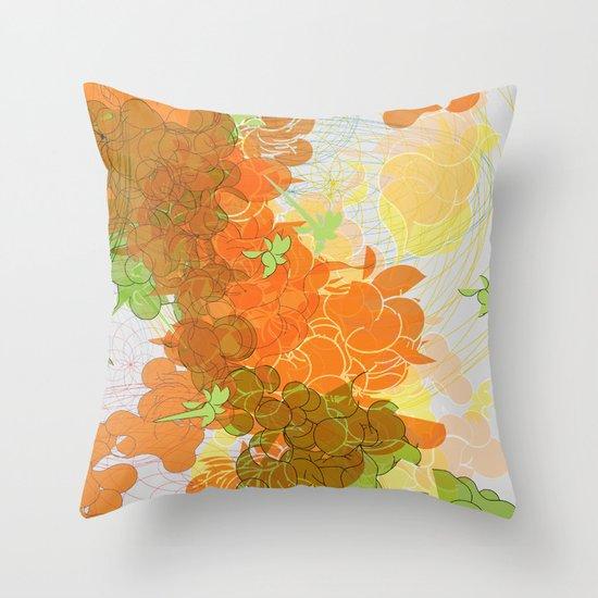 vegetal growth Throw Pillow