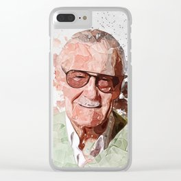 Stan Lee contemporary art Clear iPhone Case