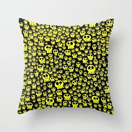 Calaveras Fluor Throw Pillow