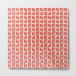 Split Circles Two Tone Pinwheel Orange Metal Print