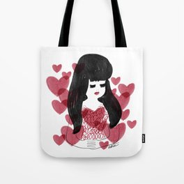 Hearts and hair Tote Bag