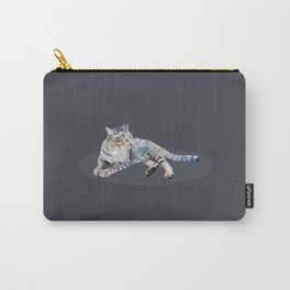 cat lay down Carry-All Pouch