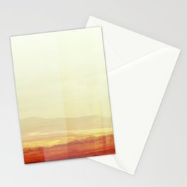 Modern Desert Landscape, Minimal Southwest Wall Art, Abstract New Mexico Stationery Cards