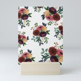 Floral Watercolor Bouquet Pattern Mini Art Print