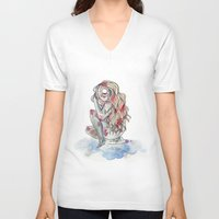 cyclops V-neck T-shirts featuring Cyclops by MarieBoiseau