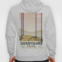 Derbyshire vintage rail poster Hoody