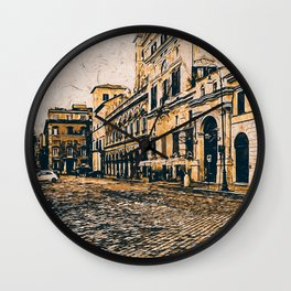 Streets of Rome, Through art and history Wall Clock