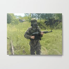 Soldier's Side Metal Print