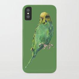 Budgie, parakeet, budgerigar,bird art, budgie painting iPhone Case