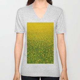 Mustard Field (of Yellow and Green) Unisex V-Neck