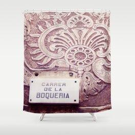 Carrer de la Boqueria Color Shower Curtain
