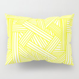 Sketchy Abstract (Yellow & White Pattern) Pillow Sham