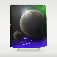 ace Shower Curtains featuring Space Ace by mystmoon