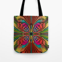 cyberpunk Tote Bags featuring Tropica by Obvious Warrior