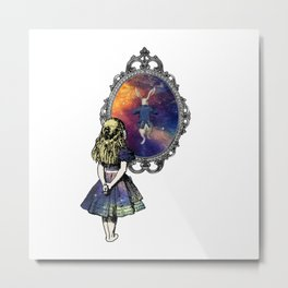 Follow The White Rabbit - Alice In Wonderland Metal Print