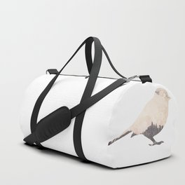 pink sky bird with trees Duffle Bag