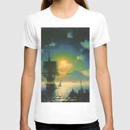 A Lunar night on Capri by Ivan Aivazovsky T-shirt