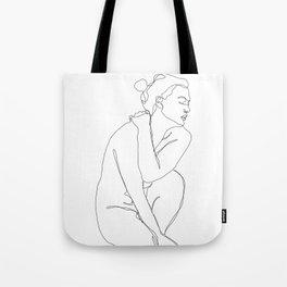 Life drawing figure illustration - Enid Tote Bag