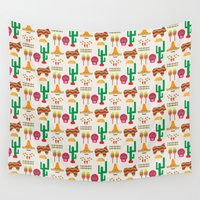 mexico Wall Tapestries featuring Mexico by Ana Types Type