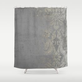 Grunge Damask Shower Curtain