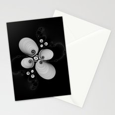 Black and White Fractal 6 Stationery Cards