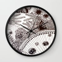 zentangle Wall Clocks featuring Zentangle by Marisa Toussaint