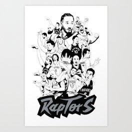 1995-2019 Raptors Art Print