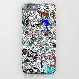 Retro Kamasutra LOVE Doodle  iPhone Case