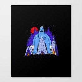 Snowman Winter Story Canvas Print