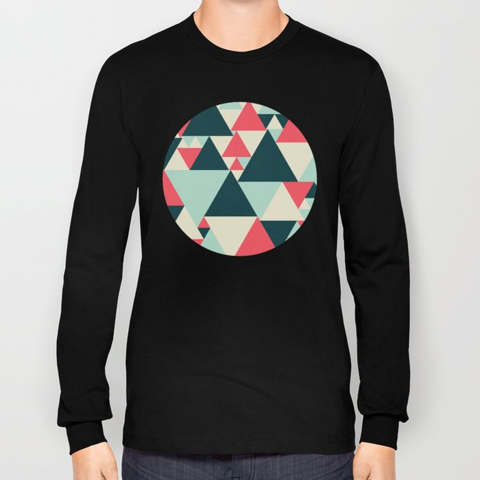 Triangular Pattern  Long Sleeve T-shirt