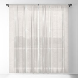 Geometric Orb Pattern XI Sheer Curtain