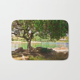 tree by the lake || color Bath Mat