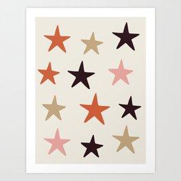 Star Pattern Color Art Print