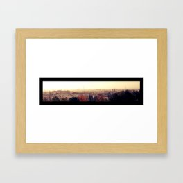 Paris silhouette Framed Art Print