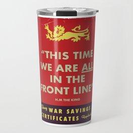WW2 War Certificate poster Travel Mug